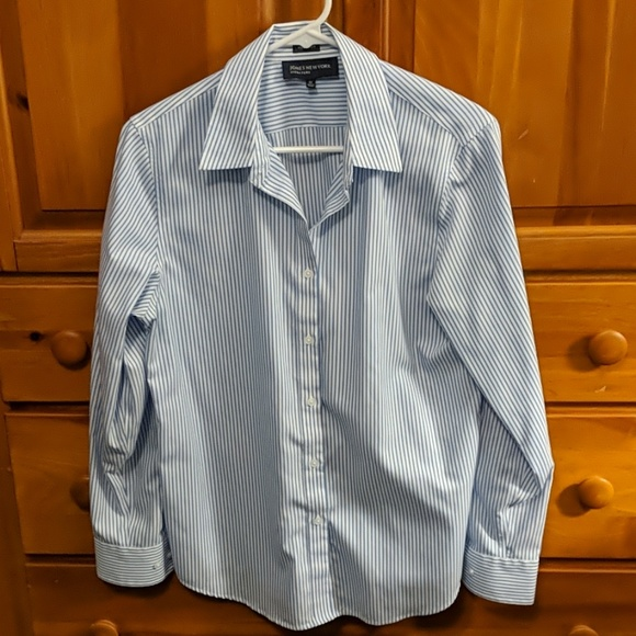 Jones New York Tops - JNY non iron button down striped shirt